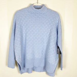 Vince Camuto Mock Neck Weave Knit Sweater